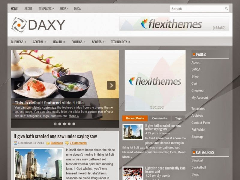 Daxy - Free Wordpress Theme