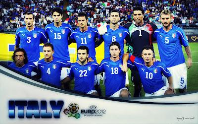 Italy Squad On Euro 2012 Wallpaper