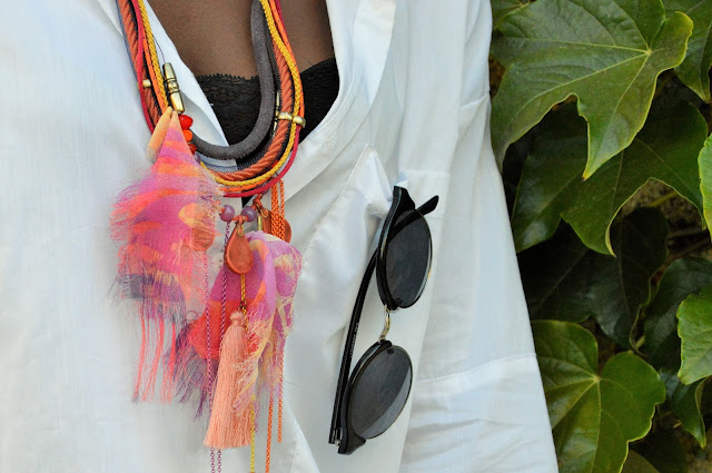 blog mode afro, blog mode marseille, look, collier una nox, chemise loose