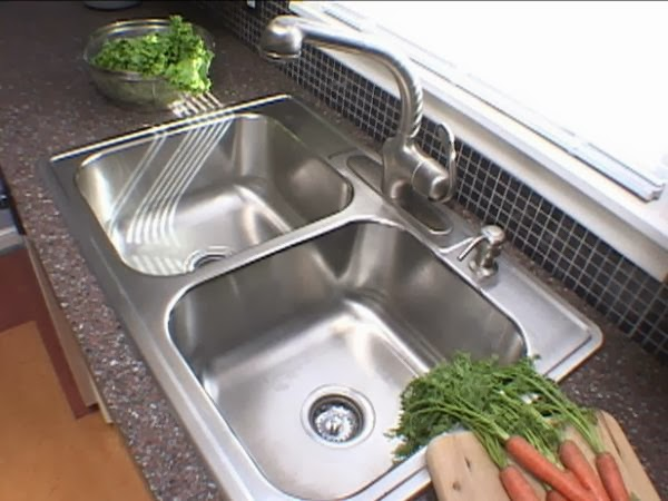 how to remove acid stains from stainless steel - How To Remove A Kitchen Sink