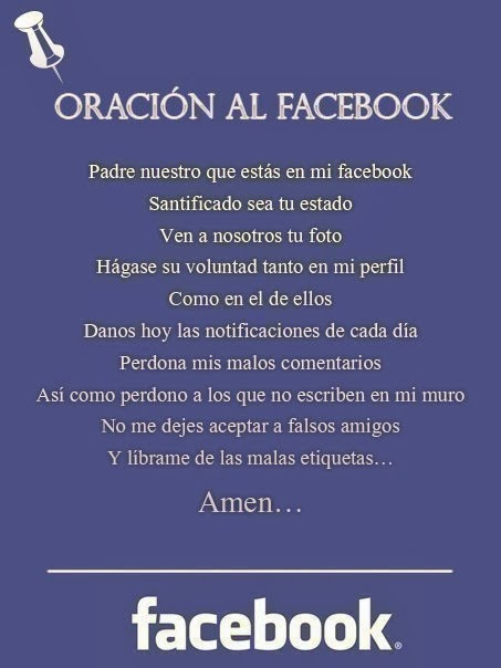 Oración al Facebook