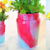 Pickle Jars + 2 Shades of Paint = Ombré Vases!