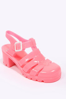 cute pink jelly shoes