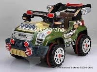 Mobil Mainan Aki Pliko PK9900N in Army Green