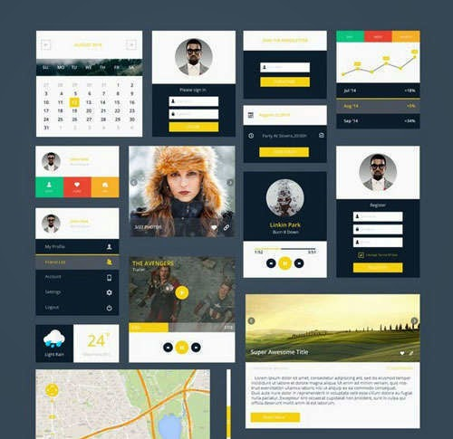 Free Mobile & Web UI Kits 2014