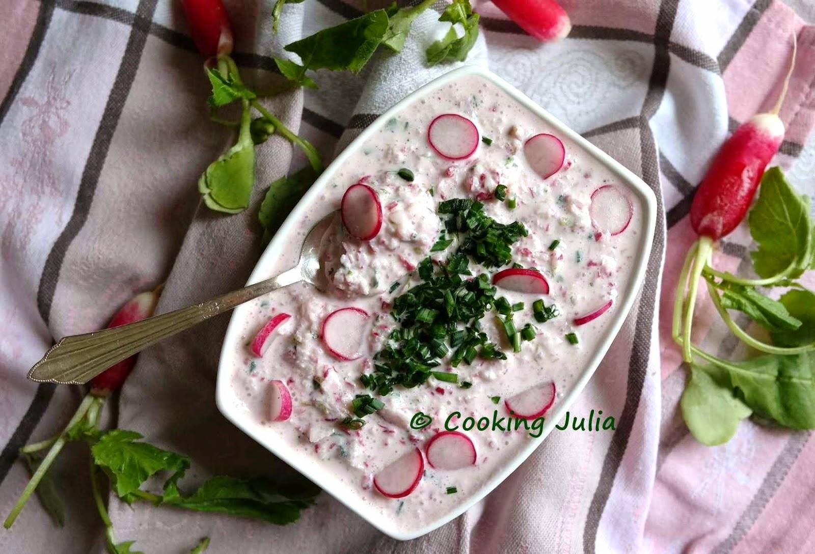 Cooking julia tartinade de radis roses - Radis rose de chine ...