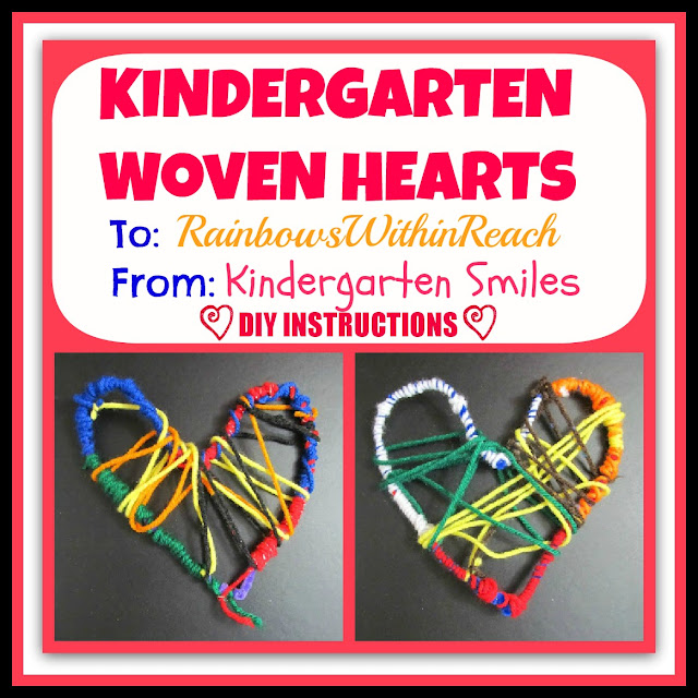 photo of: Crafted Woven Hearts by Kindergarten Children via RainbowsWithinReach