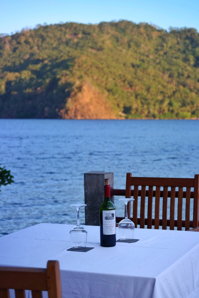 Lembeh Hills Resort sunset wine