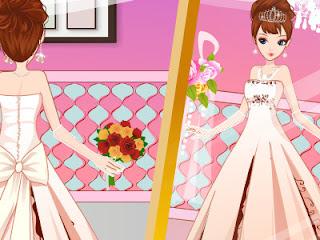 Juego de vestir vestidos de novia modernos