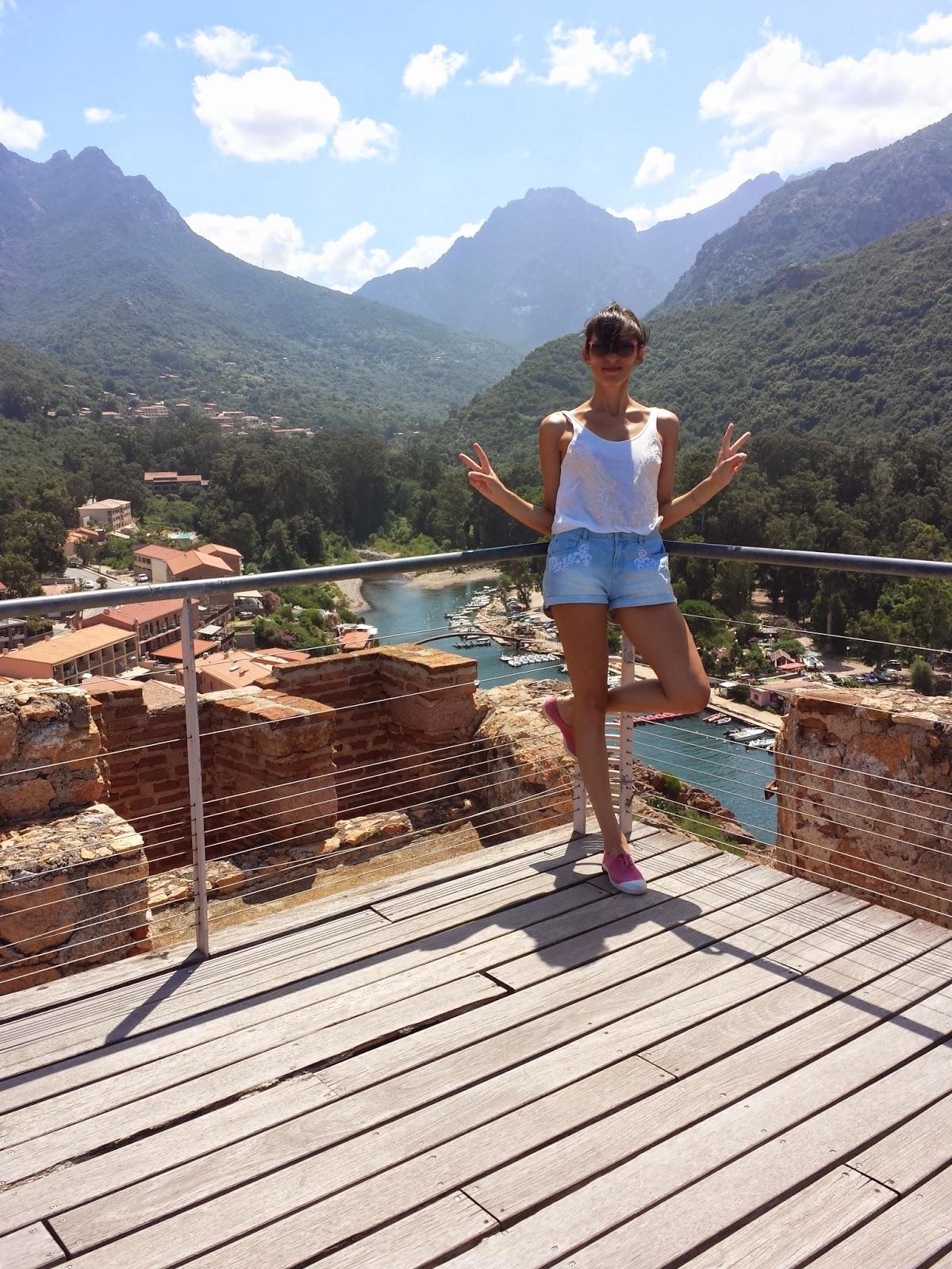 Vue depuis la Tour Genoise de Porto - Corse