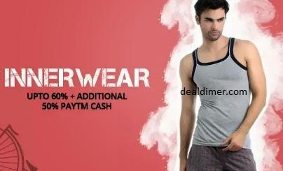 Jockey Innerwear Upto 9% + Extra 50% cashback