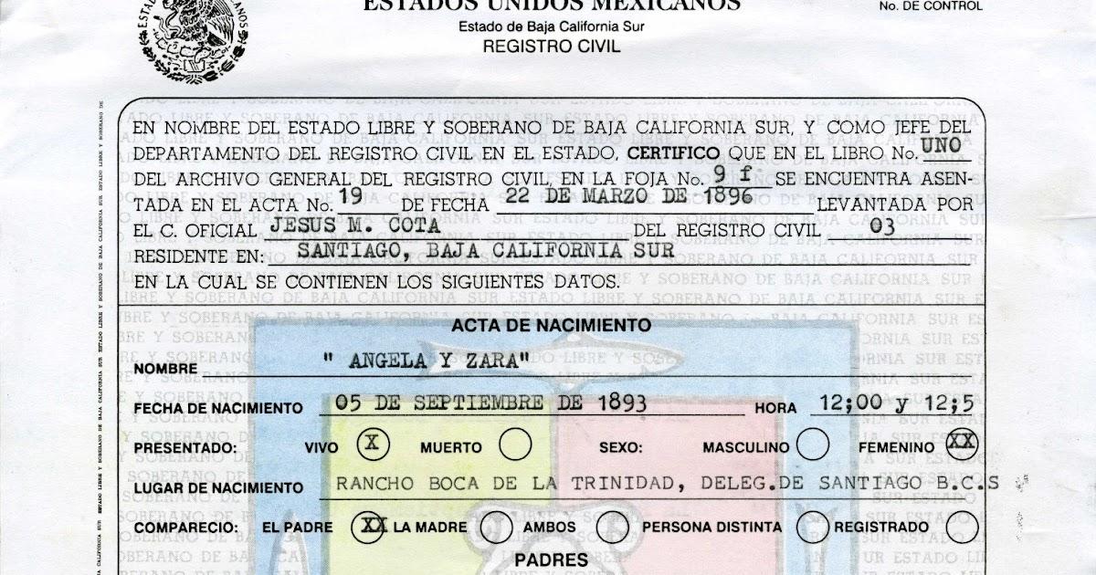 Hermosa Certificado De Nacimiento De San José De California Modelo ...