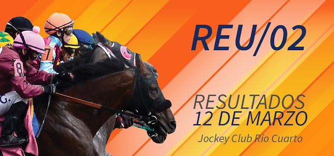 RESULTADOS - 12 DE MARZO - HIPODROMO JOCKEY CLUB RIO CUARTO