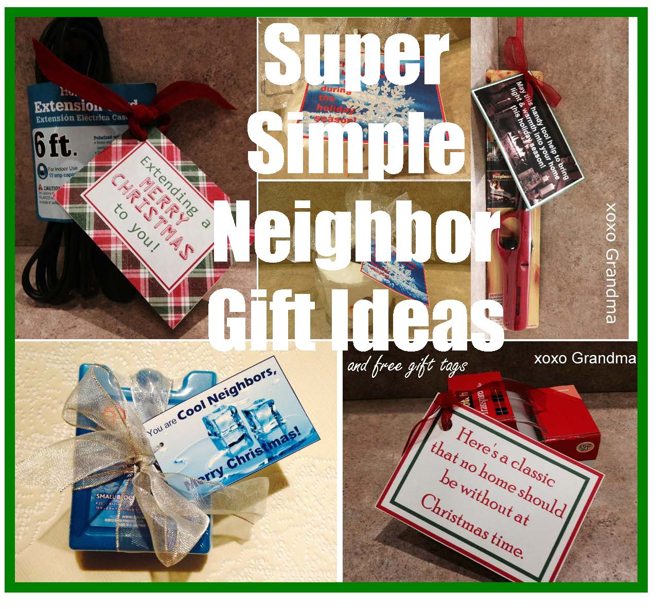 xoxo Grandma: Five Super Simple Neighbor Gift Ideas for Christmas