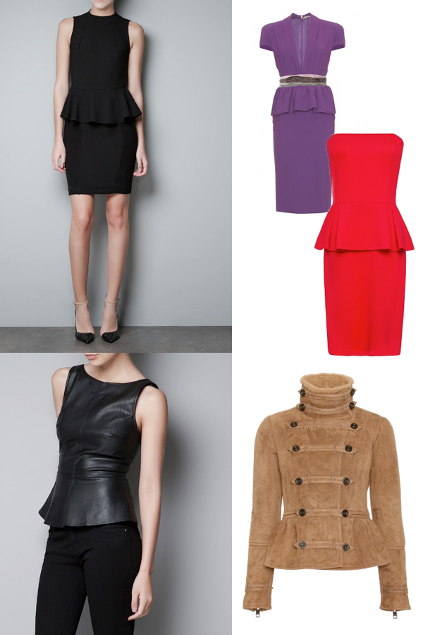 Peplum trends on www.designandfashionrecipes.com
