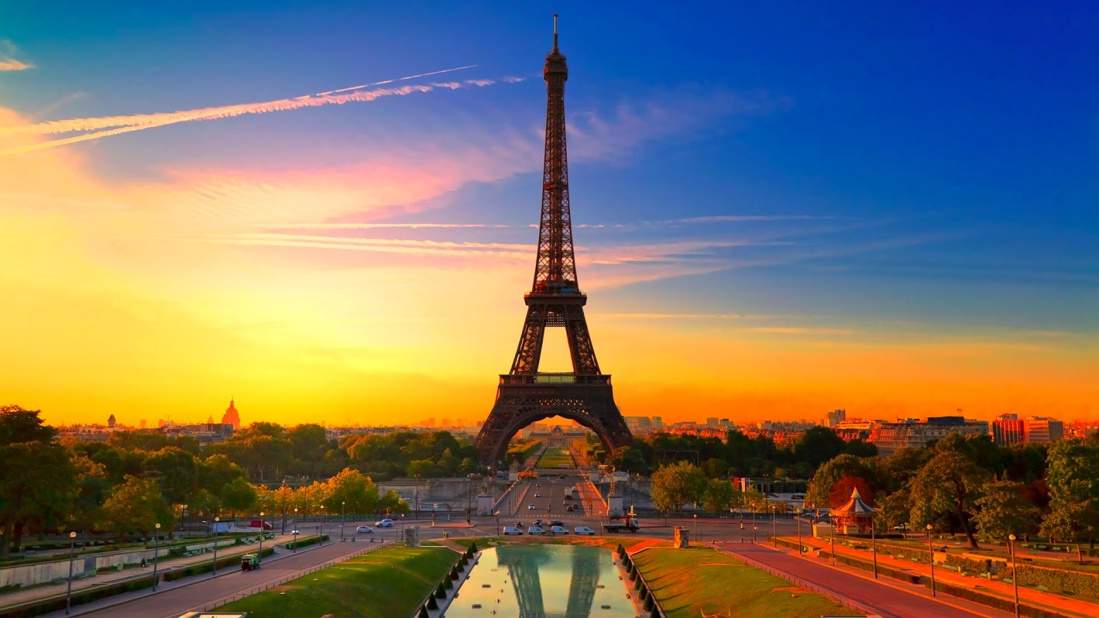 Eiffel Tower Sunset HD Wallpaper