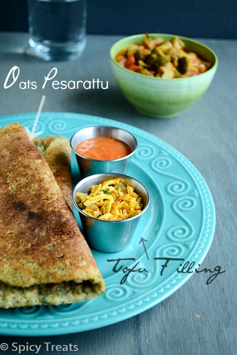 Oats Pesarattu With Tofu