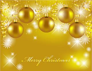 金色に輝くクリスマスの背景 beautiful christmas background vector イラスト素材1