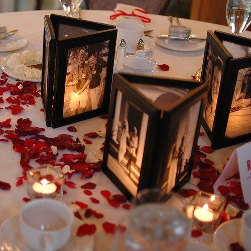 Cheap Wedding Centerpiece Ideas 62 Amazing Illuminated photo frames with