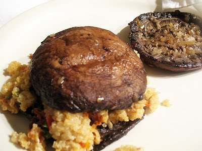 Portobello Quinoa Stuffed Sandwich