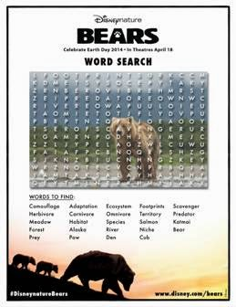 BEARS Word Search