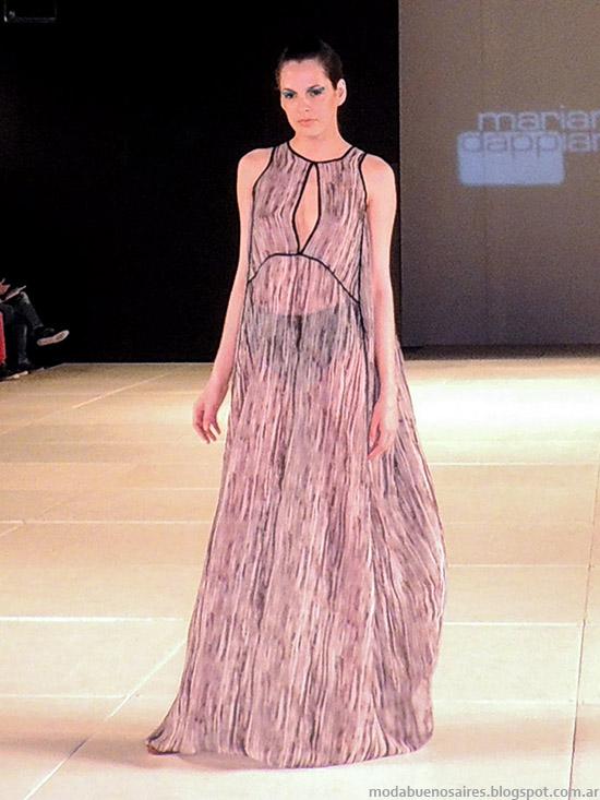 Mariana Dappiano primavera verano 2015. Moda primavera verano 2015 maxi vestidos de verano.