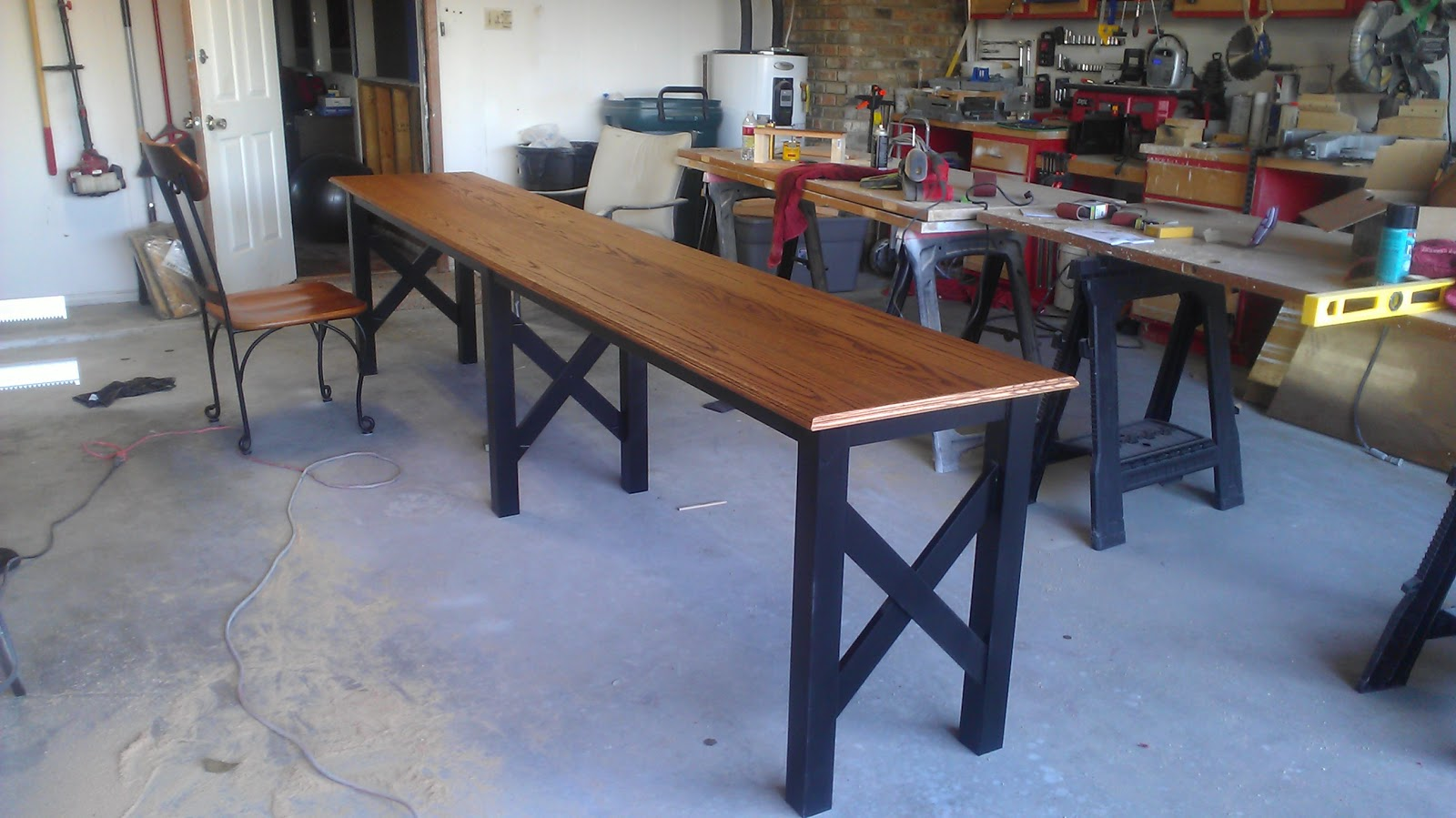 Deep in the heart of texas vette extra long sofa table for Long couch table