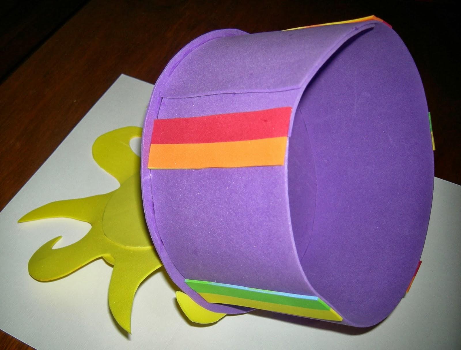 DISFRAZ PRIMAVERAL - Sombrero y Corbata multicolor para festejar la  primavera 13a87c525bc