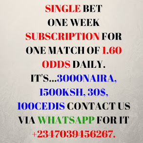 1 Week Subscription of 1.60 ODDS