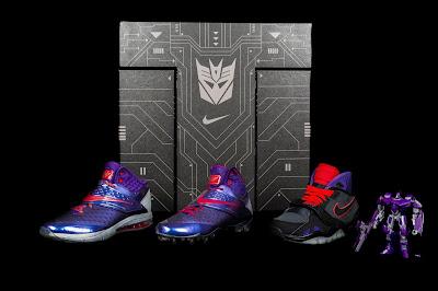 "Nike x Habro Calvin Johnson ""Megatron"" Transformers Sneakers & Action Figure Pack"