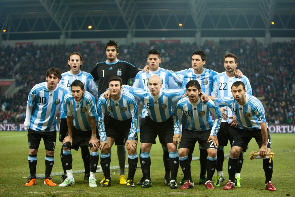 Argentina hot girls Argentina National Soccer team 2012. Credit to football galleries