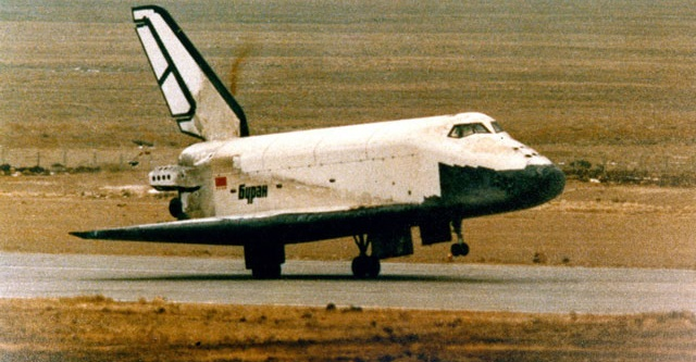 Buran spce shuttle. Credit: Energia