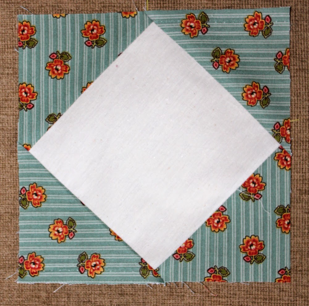 how to make a quilt square on point