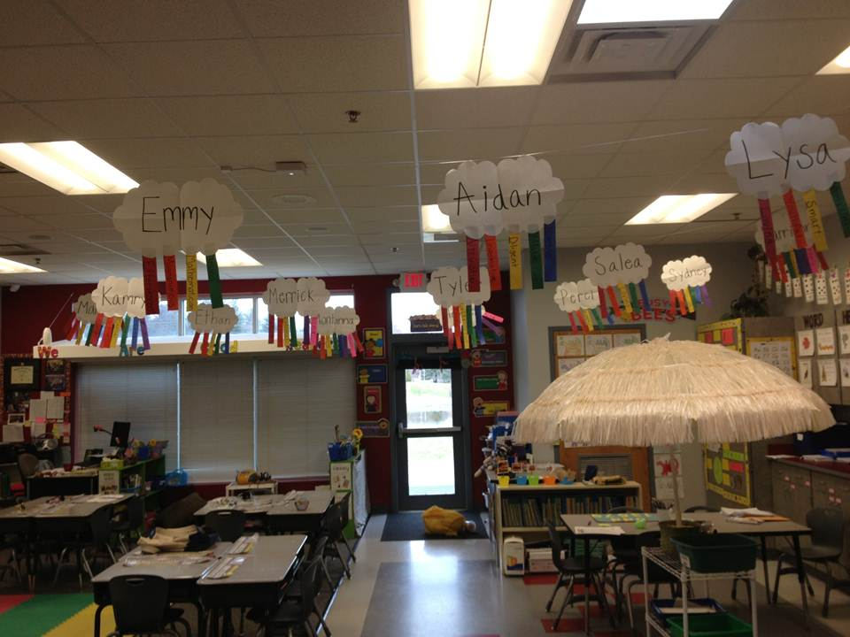 Classroom Ceiling Decoration : First grade with a cherry on top march