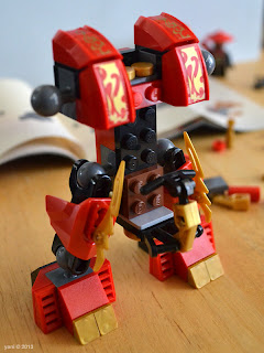 lego ninjago - those red pieces would have been better if they were printed, but the stickers look pretty good
