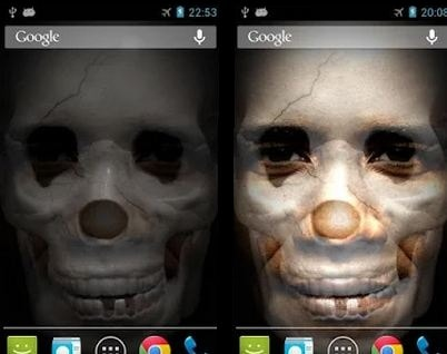 shake scary face best free android app to scare your friends people on halloween