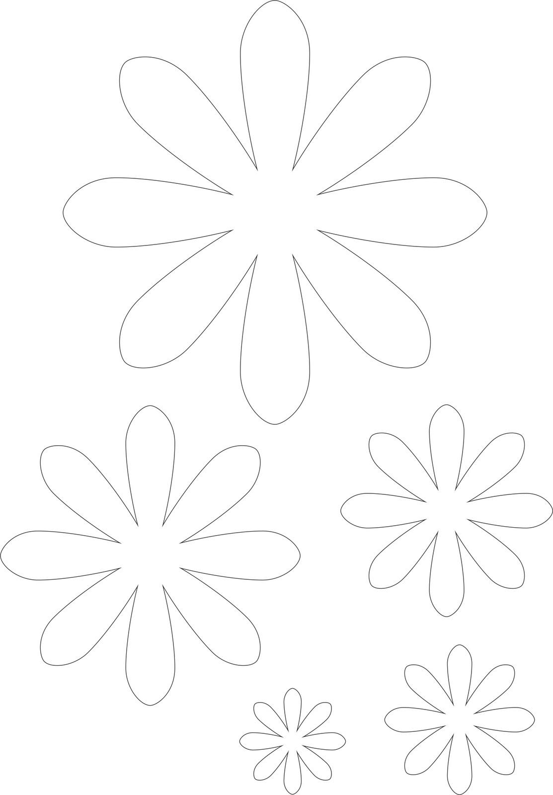 Molde De Flor De Papel. Molde Digital Flor De Papel Modelo Fine ...