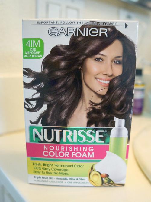 Ishah X Beauty New Hair Garnier Nutrisse Foam Dye In Iced Mahogany