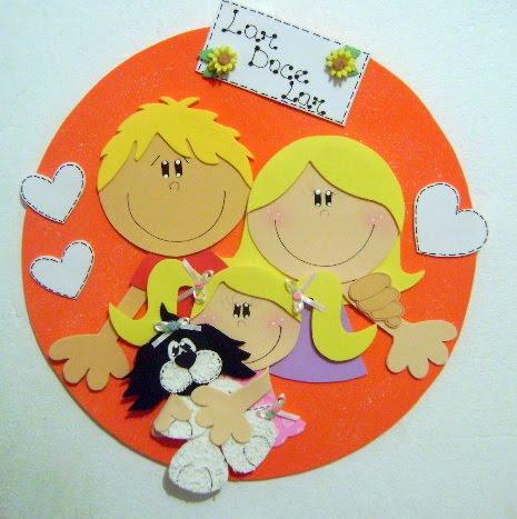 Fofuchas eva e cia molde plaquinha de porta familia feliz for Manualidades en familia