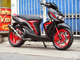 modifikasi mio m3 red terkeren
