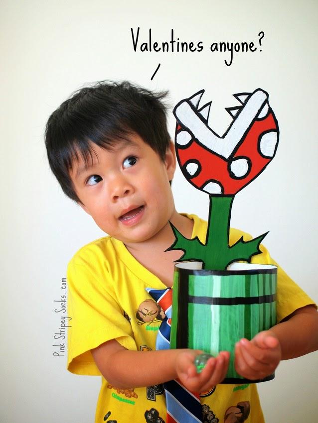 Piranha plant Valentine Card Box
