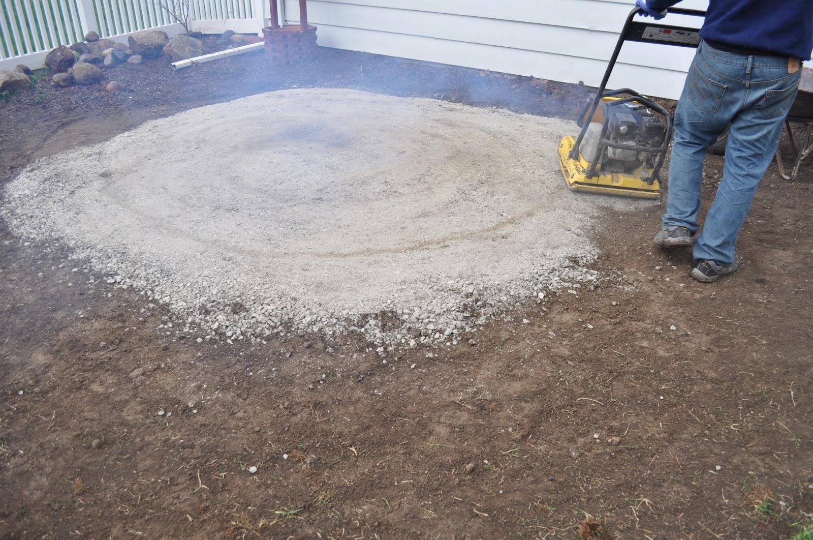 Pea Gravel Patio Diy : mulch, sod cutter, patio, pavers, DIY, landscaping, reno, pea gravel