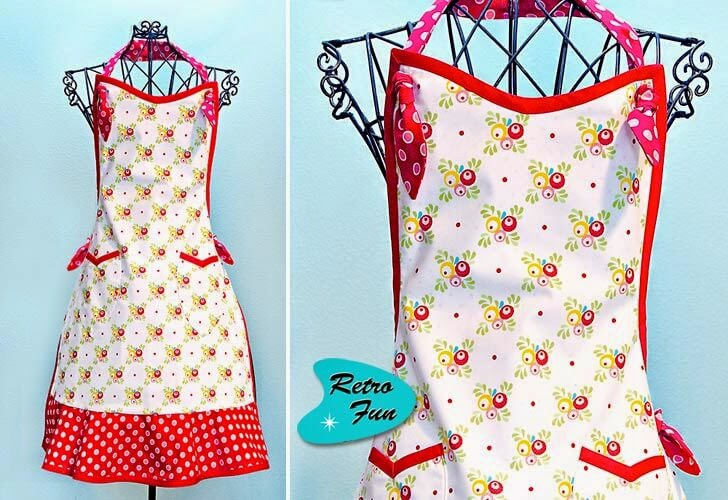 Retro Fun Free Apron Pattern