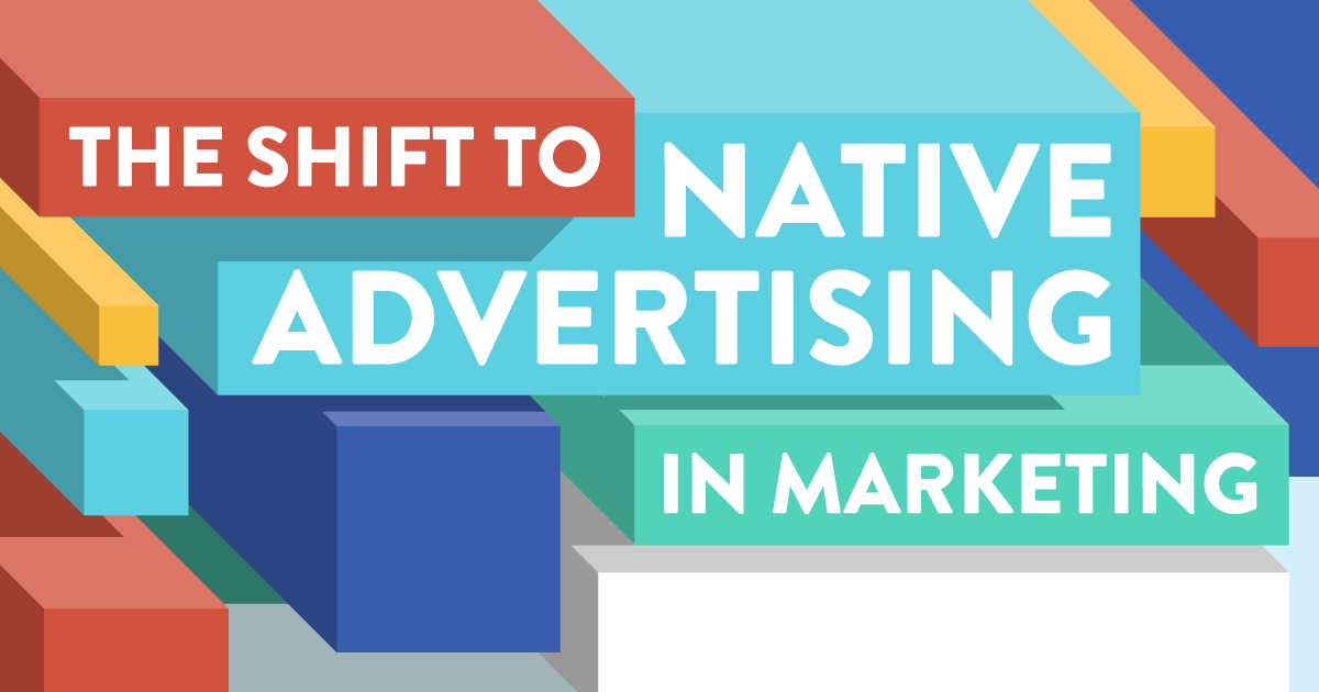 The Shift to Native Advertising in Social Media Marketing - infographic