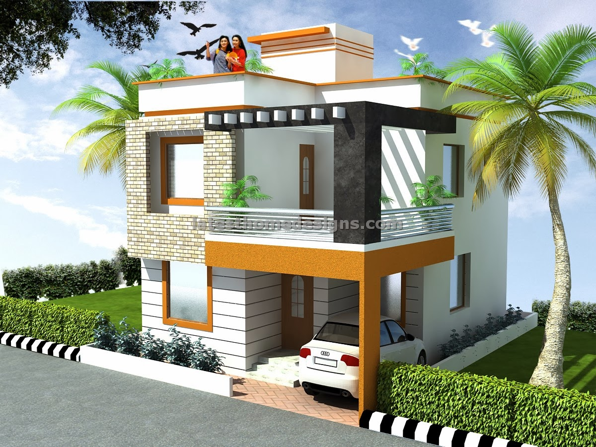 Indian residential building plan and elevation joy for Duplex house models