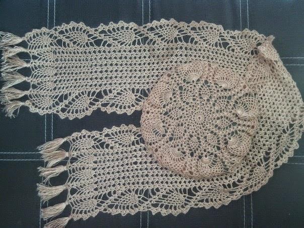 Camino de mesa y almohadón tejidos al crochet - con esquemas ...