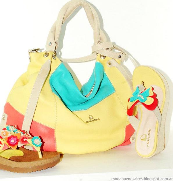 Moda verano 2013 Chiarini carteras, zapatos, sandalias.