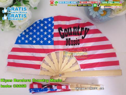 Kipas Bendera Country Music