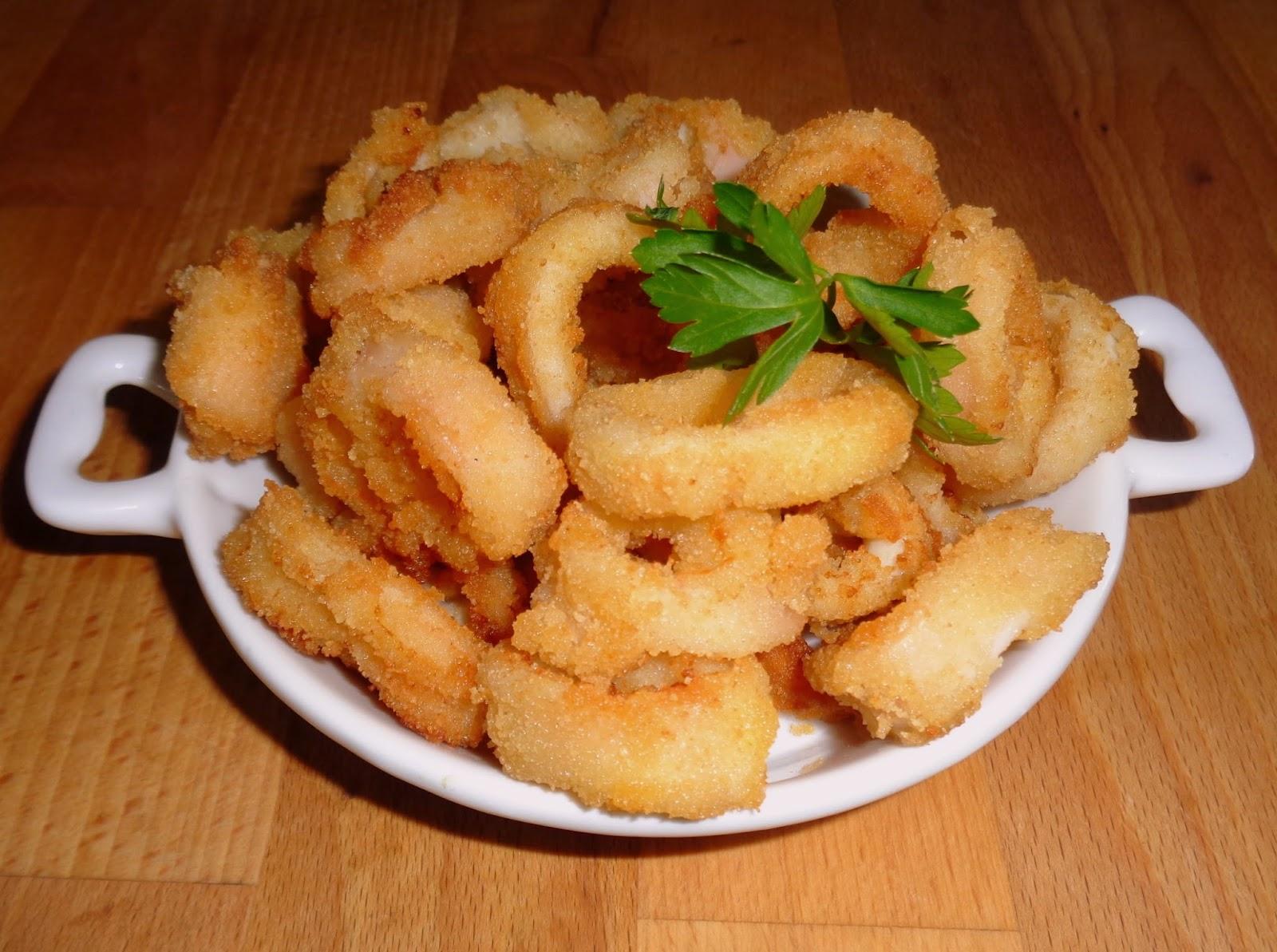 Recetas de mi madre y mias calamares rebozados caseros - Limpiar calamares pequenos ...