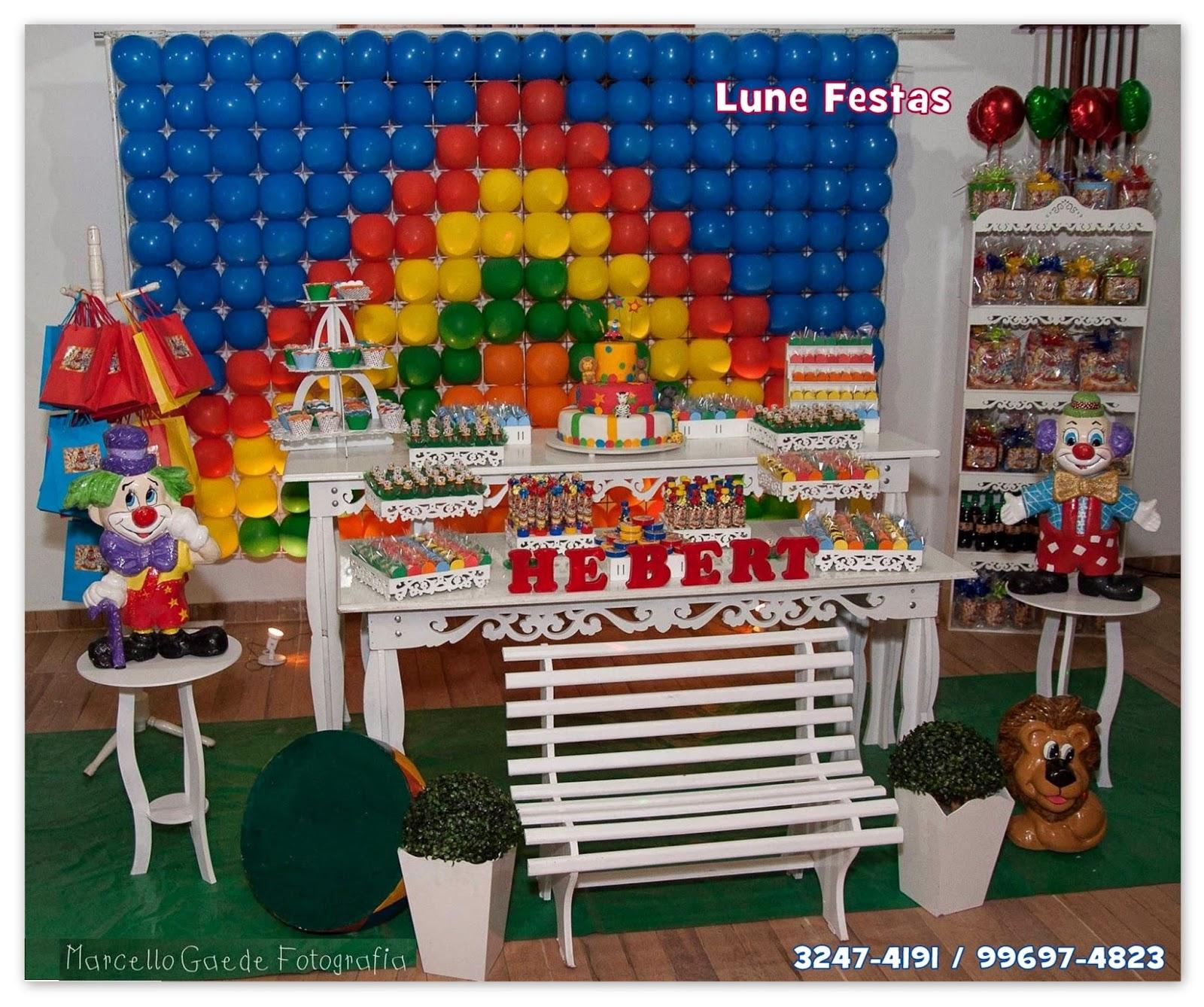 Lune Festas São Gonçalo RJ: O Circo do Lune Festas Decoração  #053D7C 1600x1338